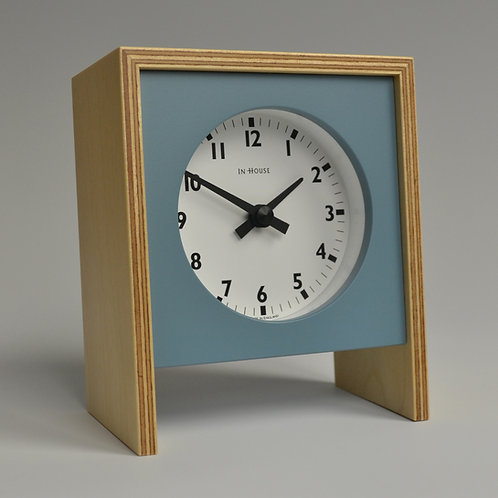Inhouseclocks - handmade plywood mantel clock