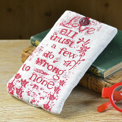Linen Glasses Case - Love All