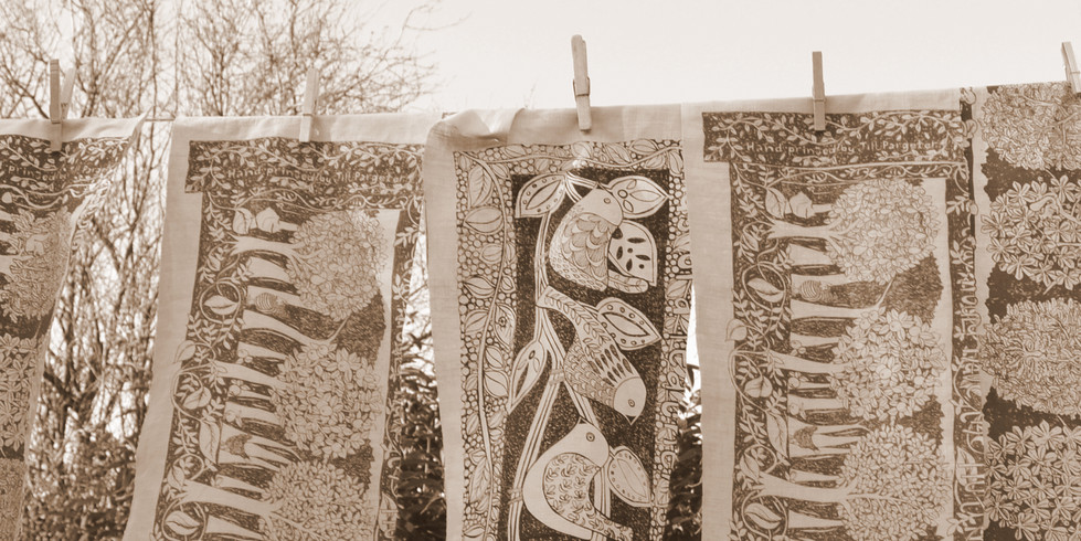Printed textiles by Jill Pargeter