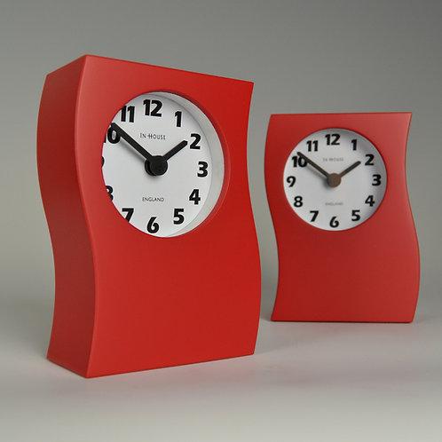 Inhouseclocks - bold red contemporary desk clock