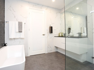 Luxurious Family Bathroom in 72 Margaret Street Dual Occupancy