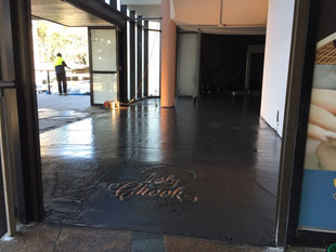 Holy Chook Charcoal Chicken Retail Fitout - During Construction