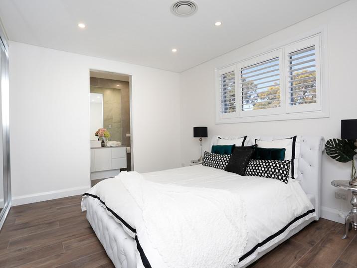 Luxe Bedroom 2 with Ensuite Bathroom in 72 Margaret Street Dual Occupancy