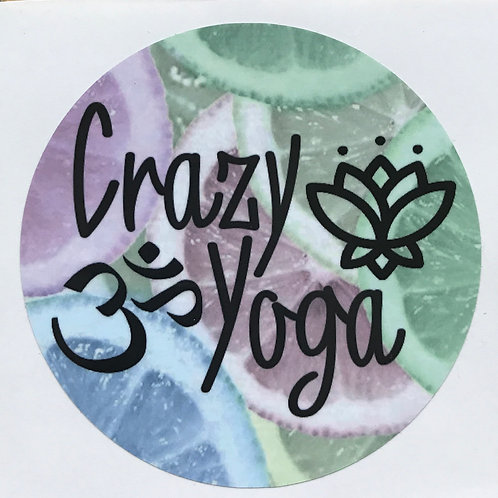 Original Crazy Yoga Sticker