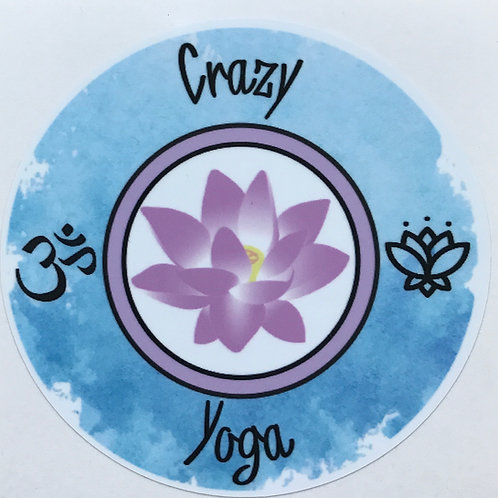 Watercolor Crazy Yoga Sticker