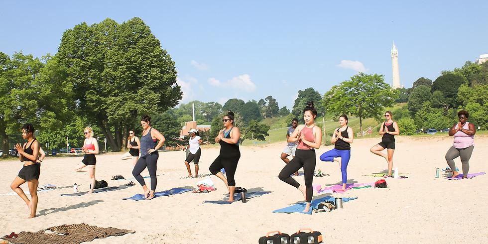 Yoga at Bradford Beach