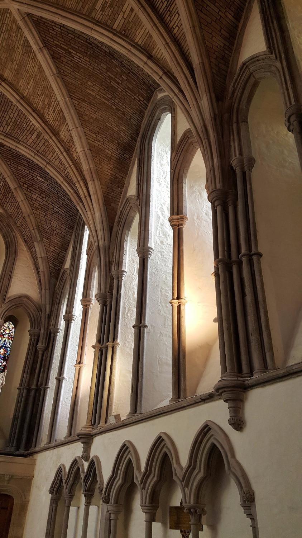 The 13th century chancel.