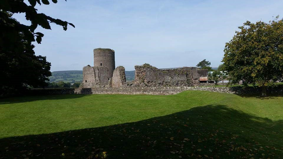 The ruins of Tretower Castle, with its 12th century walls and 13th century tower.
