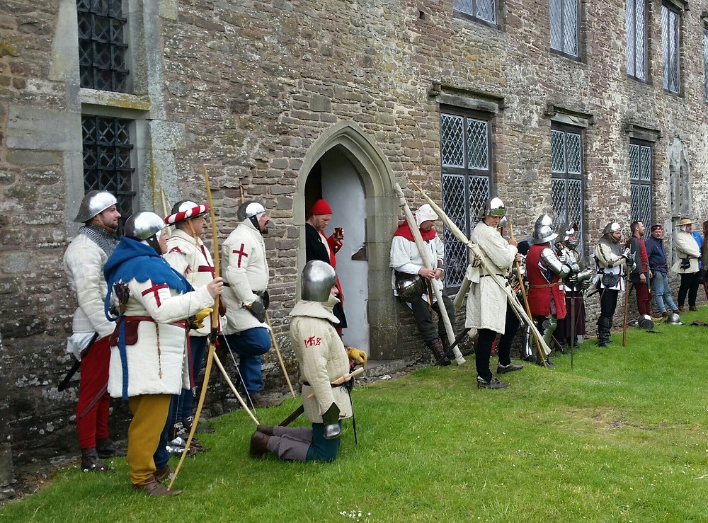 The Agincourt600 muster at Tretower, Sunday 28th June 2015.