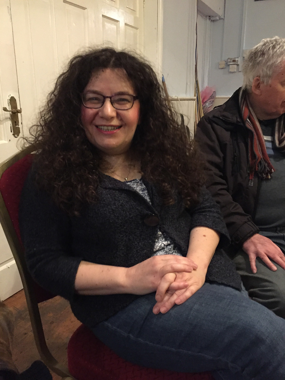 Tricia Roberts, Founder of YesCymruAbertawe, at their first meeting on the 30/11/2016