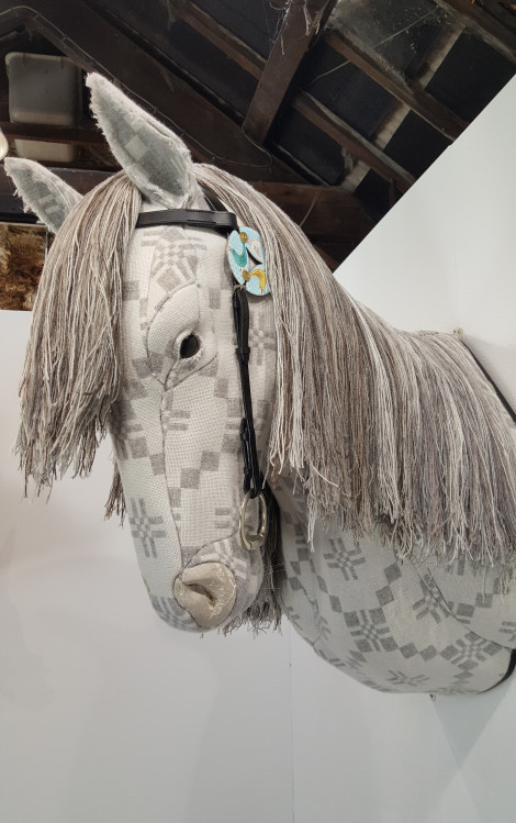 """Rhiannon's Horse, also described in the First Branch of the Mabinogion: """"And as they were sitting, they could see a woman wearing a shining golden garment of brocaded silk on a big, tall, pale-white horse…"""""""