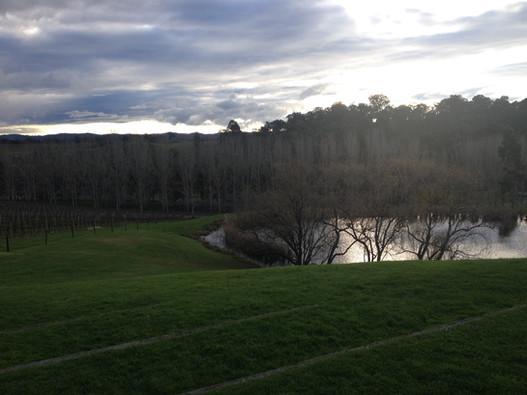 Vineyard reservoir in the Yarra Valley, Victoria