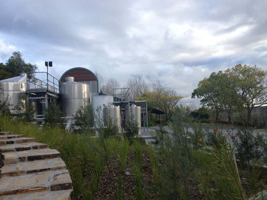 Wine and water tanks in the Yarra Valley, Victoria