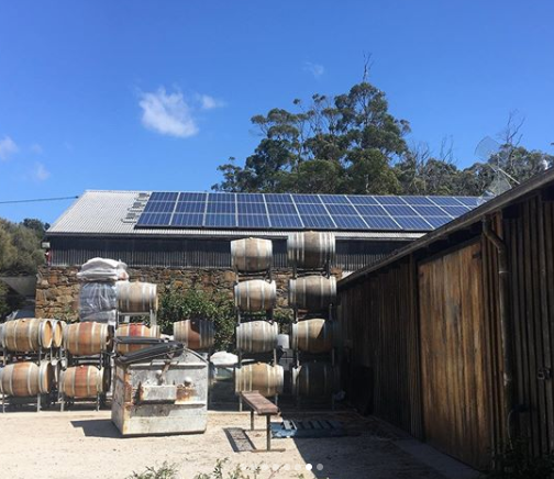 Off grid winery Pipers River, Tasmania