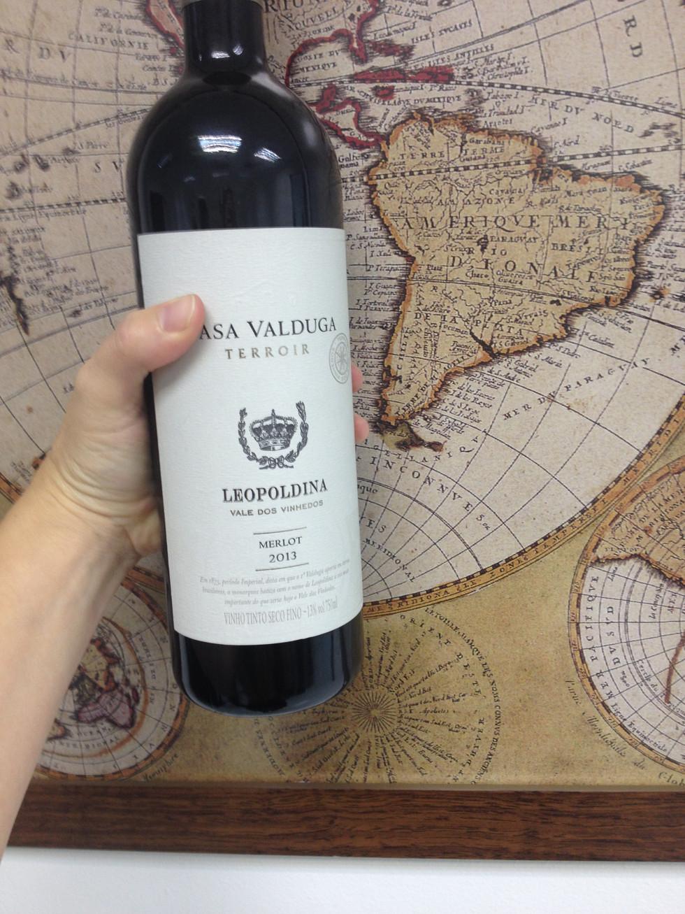 A gift of Brazilian wine from a Brazilian professor