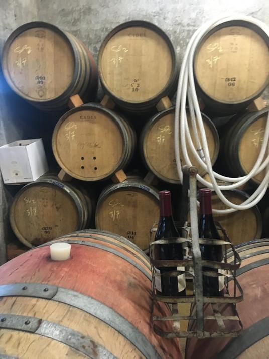 Touring a barrel room