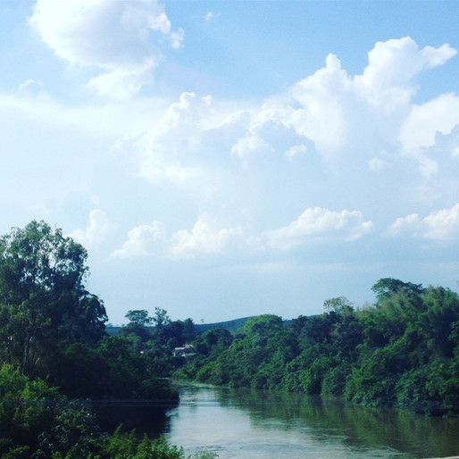 A river in the countryside outside of Sao Paolo