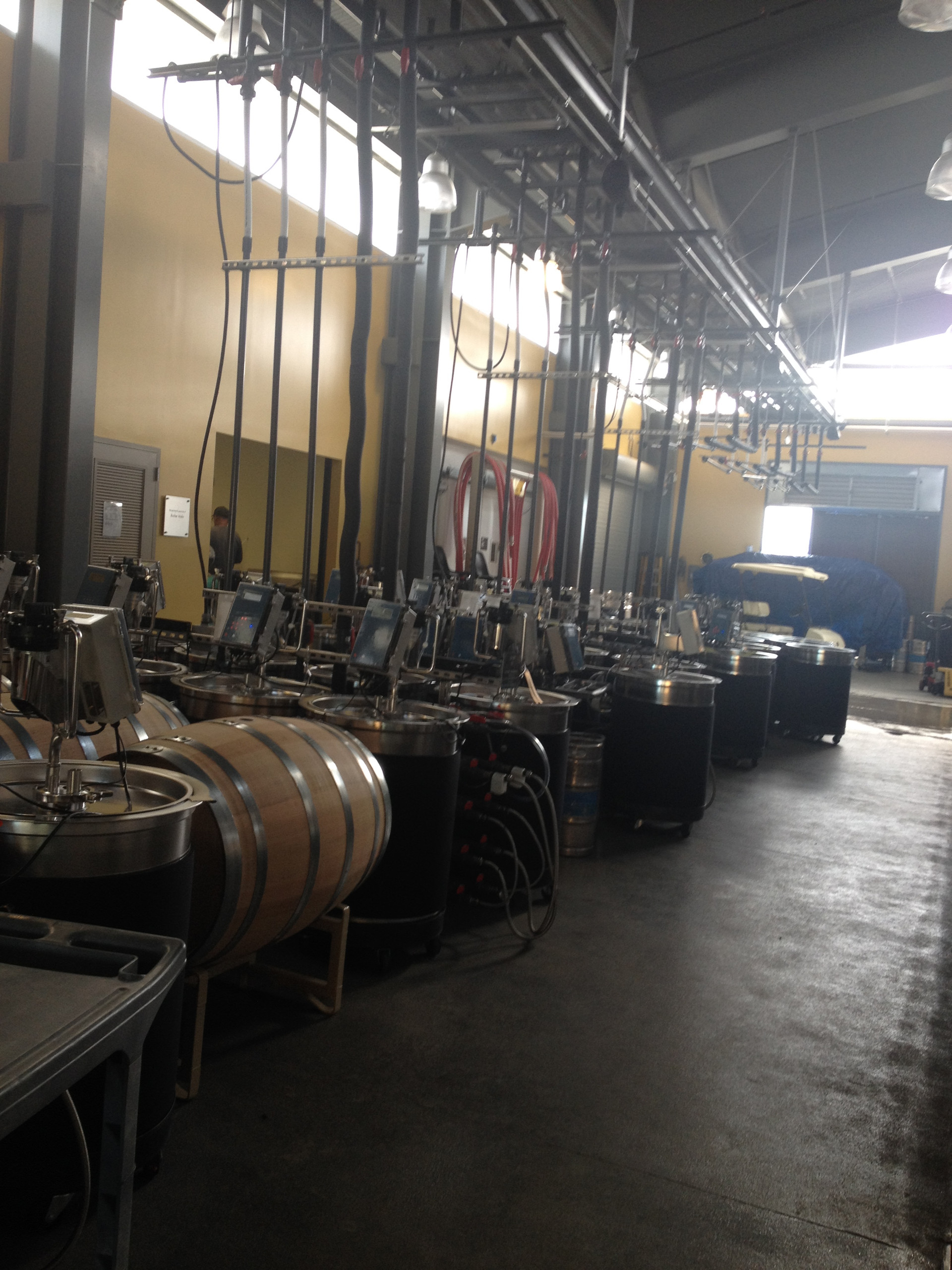 Touring zero waste winery at UC Davis
