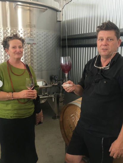 Barrel tasting Pinot Noir in the Tamar Valley