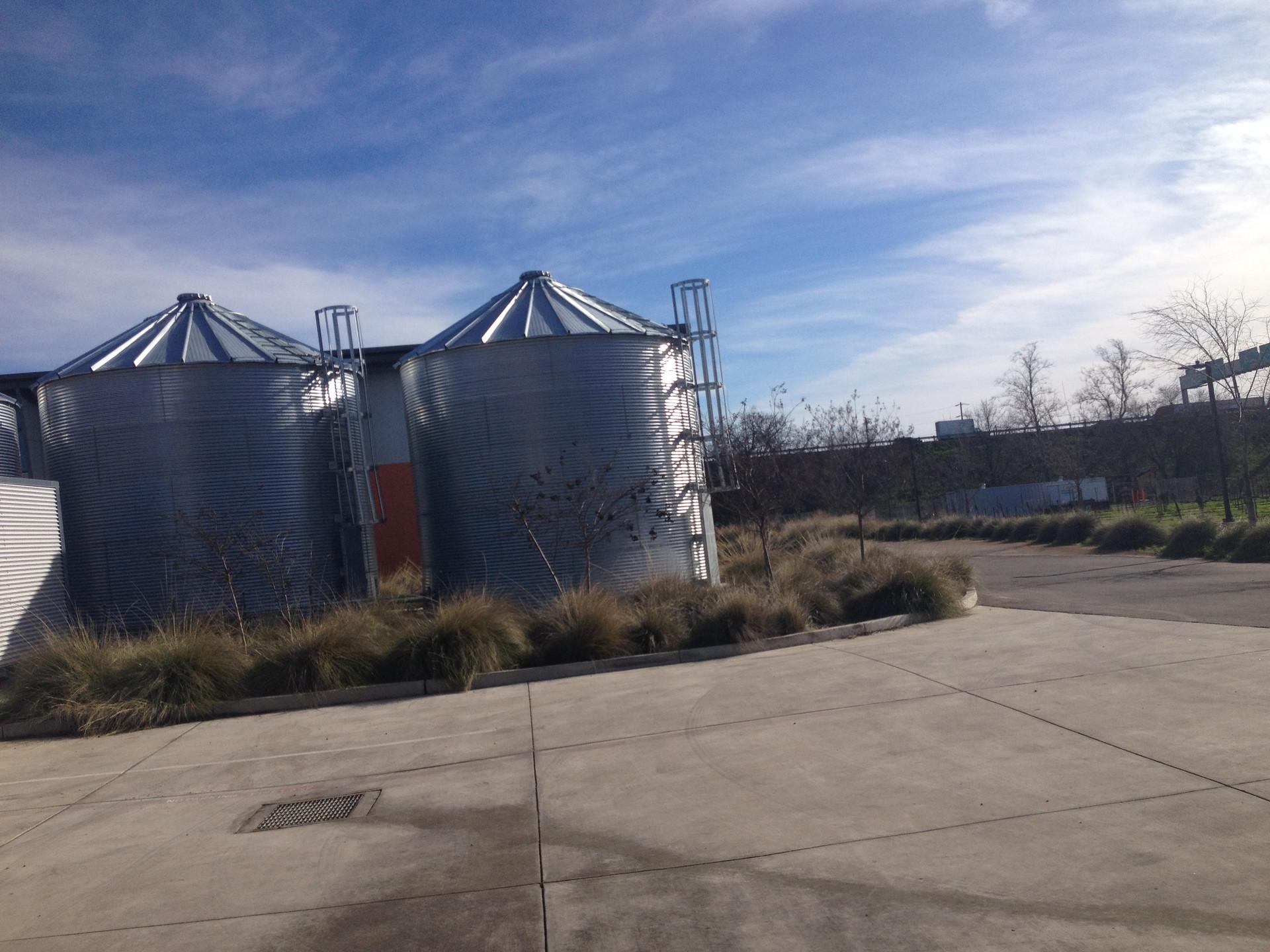 UC Davis water storage tanks