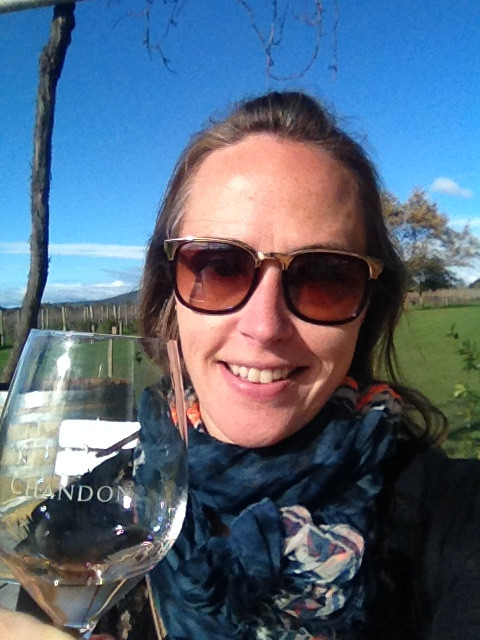 Celebrating a rare sunny day in the Yarra Valley with a sparkling tasting