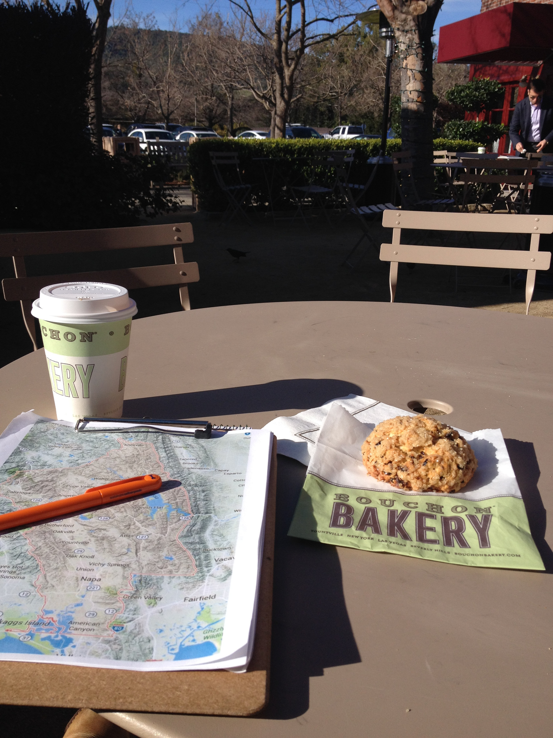 Beginning my day planning at Bouchon Bakery