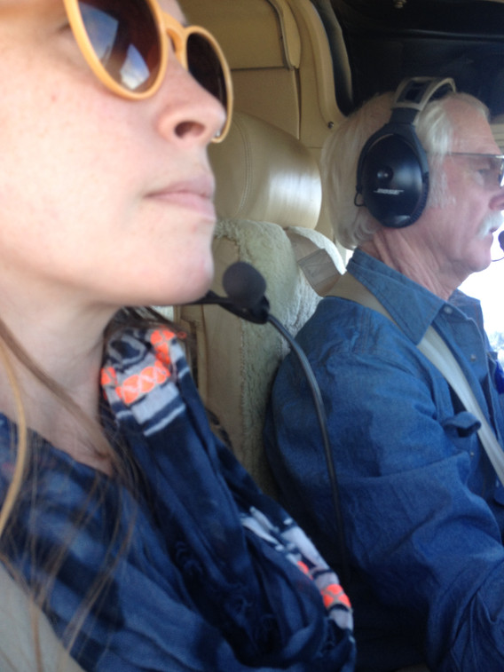When a winemaker, viticulturist & pilot offers to show me vineyard hillside development by air... I say yes!