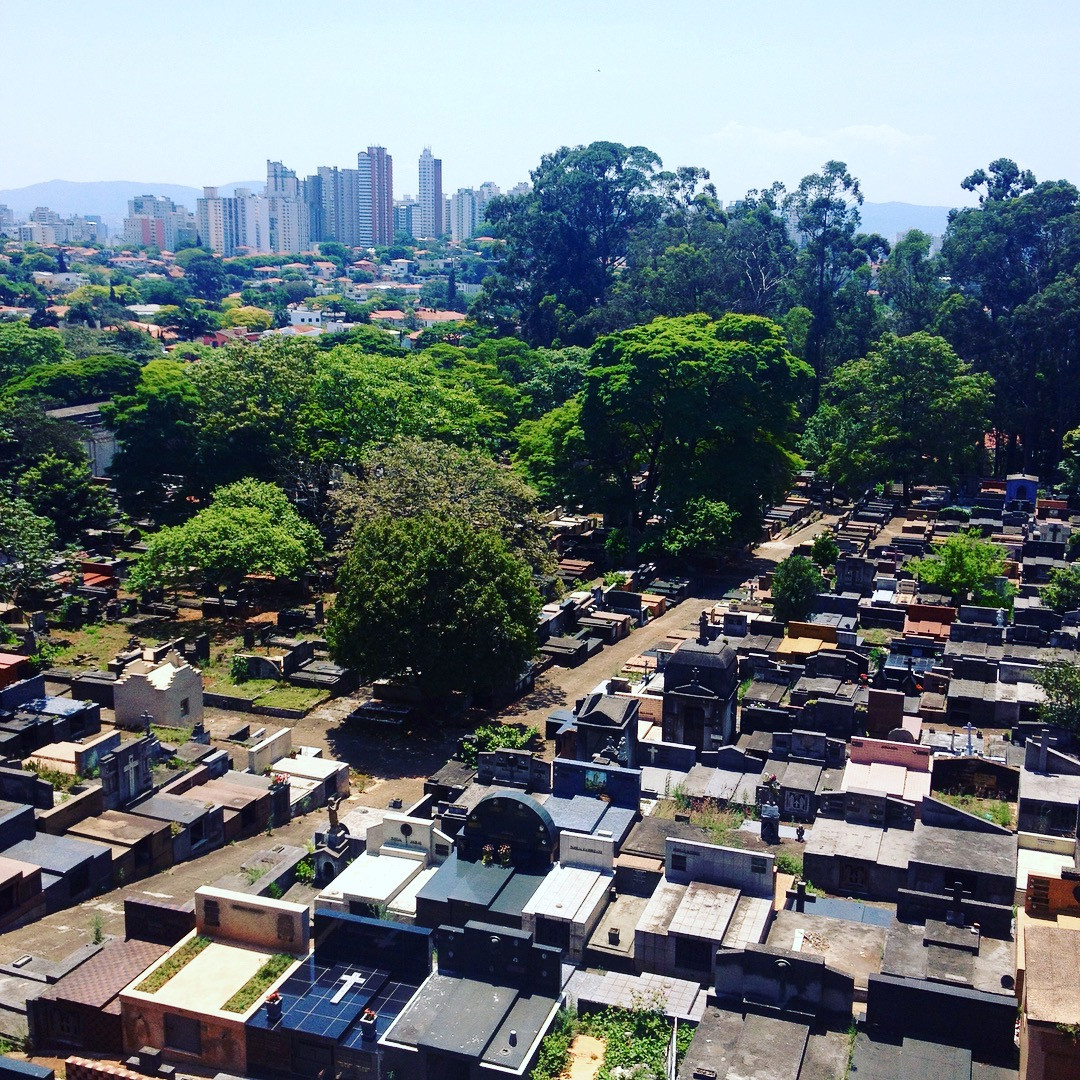 Wandering Sao Paolo. This is a huge cemetary.