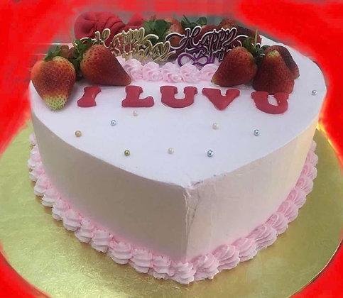 2D Cream Cake - I Luv U