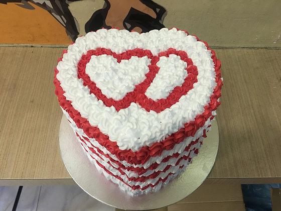 2D Cream Cake - Love (Tall)