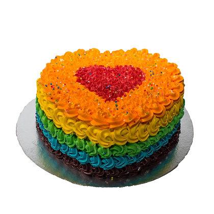 2D Cake - Rainbow