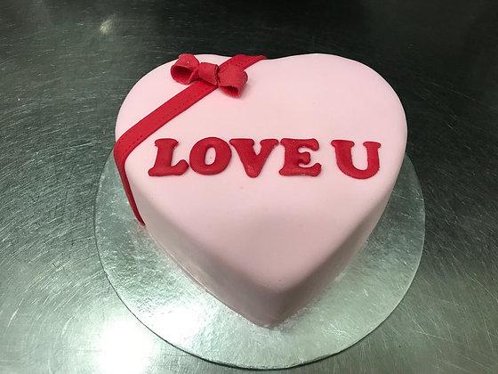 3D Fondant Cake - I Love U