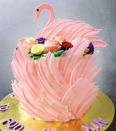 3D Artisan tall Cake - Swan