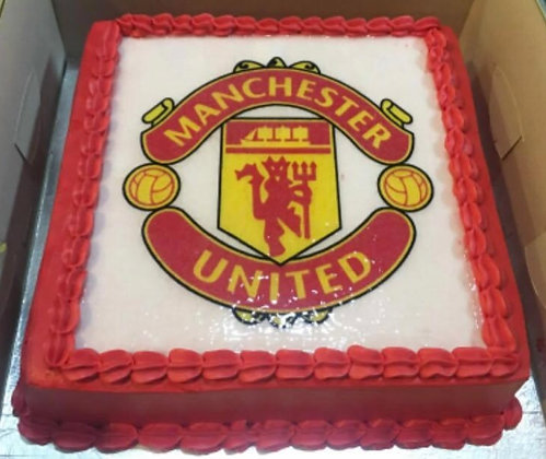 2D Cream Cake - Football 2kg Team  (photo given by Client)
