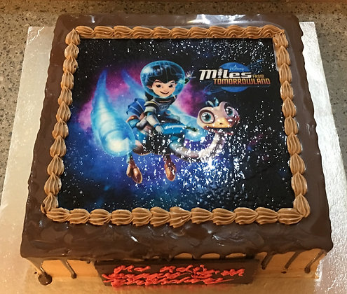 2D Image Printed Cake - Miles (photo given by Client)