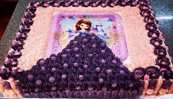 "2D Image+3D artisan piping Princess Cake (11"",2-2.5kg)  (photo given by Client)"