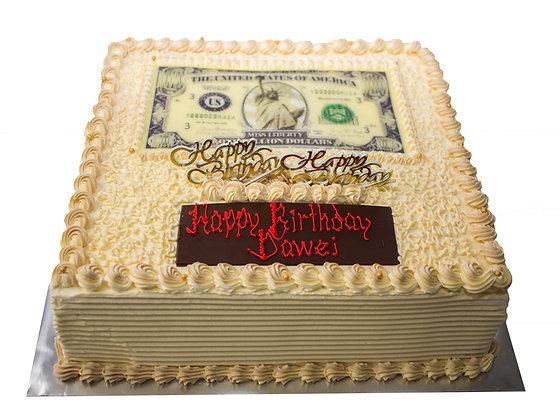 2D Image Print-Money Pulling Cake (1.5-2kg est)