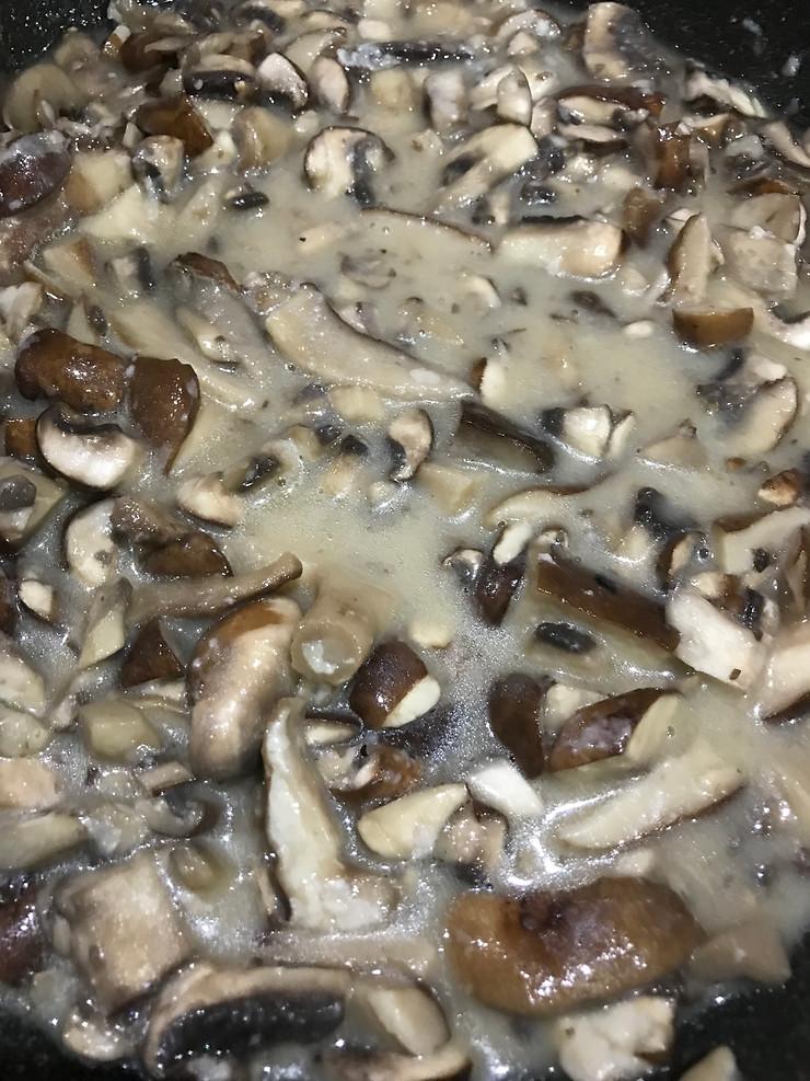 Delicious homemade mushroom soup