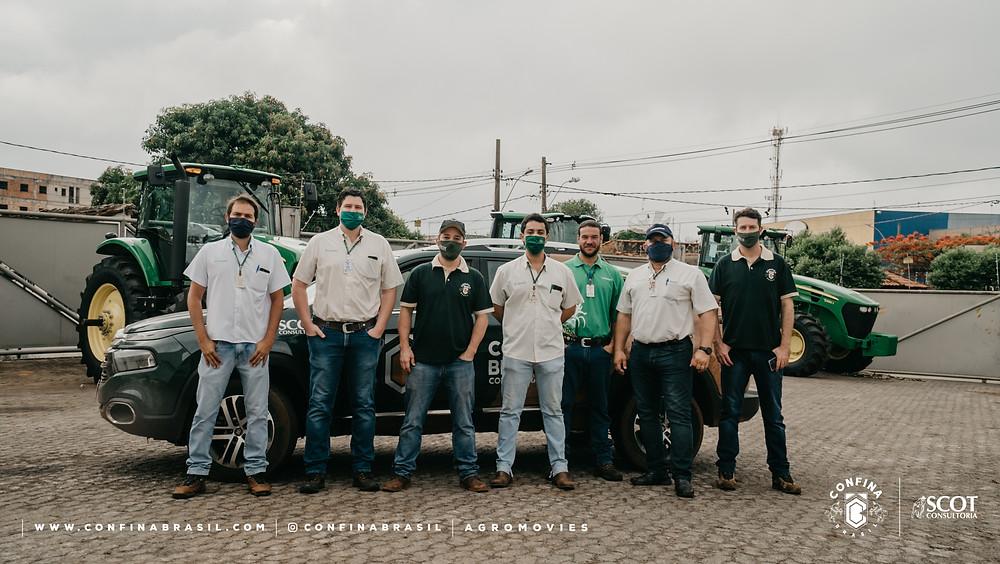 equipe confina brasil e parceiros