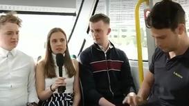 Live debate with climate activists inside an autonomous vehicle