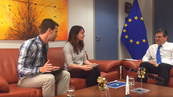 'Surprise' visit to the VP of the European Commission