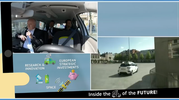 Live broadcast from an autonomous vehicle
