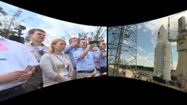VR of the launch of satellites into space