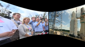 VR experience of the launch of EU satellites