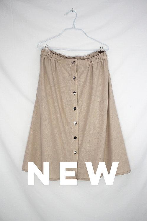 GOOSE linen skirt - Beige