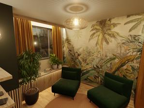 Rénovation et aménagement d'intérieur d'une salle de repos par l'agence d'architecture d'intérieur et décoration d'intérieur