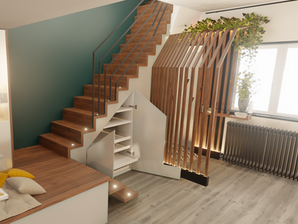 Rénovation et aménagement d'intérieur d'une maison par l'agence d'architecture d'intérieur et décoration d'intérieur WILDHOME
