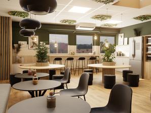 Rénovation et aménagement d'intérieur des locaux sociaux de leroy merlin par l'agence d'architecture d'intérieur et décoration WILDHOME