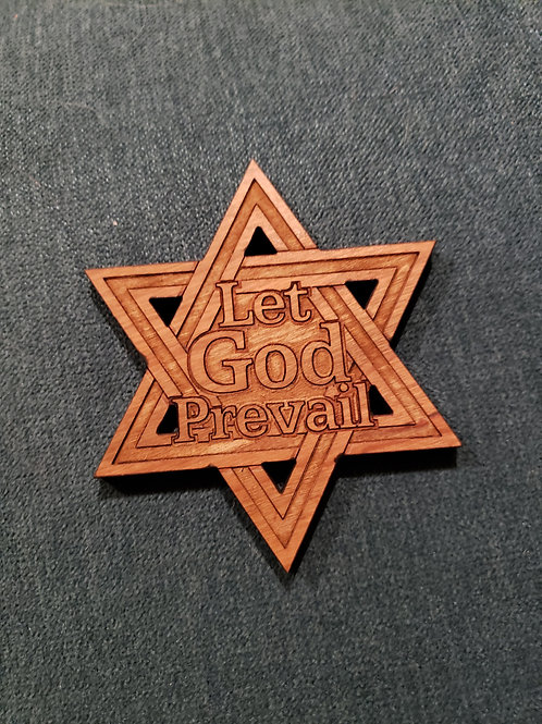 Let God Prevail magnet