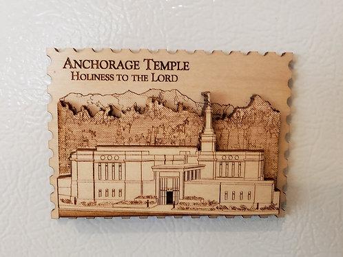 Anchorage Temple Fridge Magnet